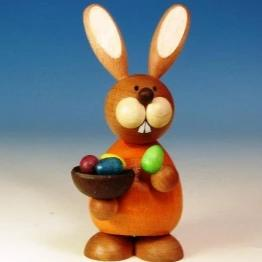 Osterhase Collectible - Bunny Boy with Colourful Egg Bowl