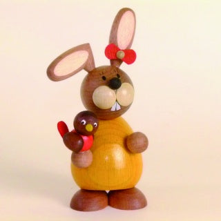 Osterhase Collectible - Bunny Girl with Bird