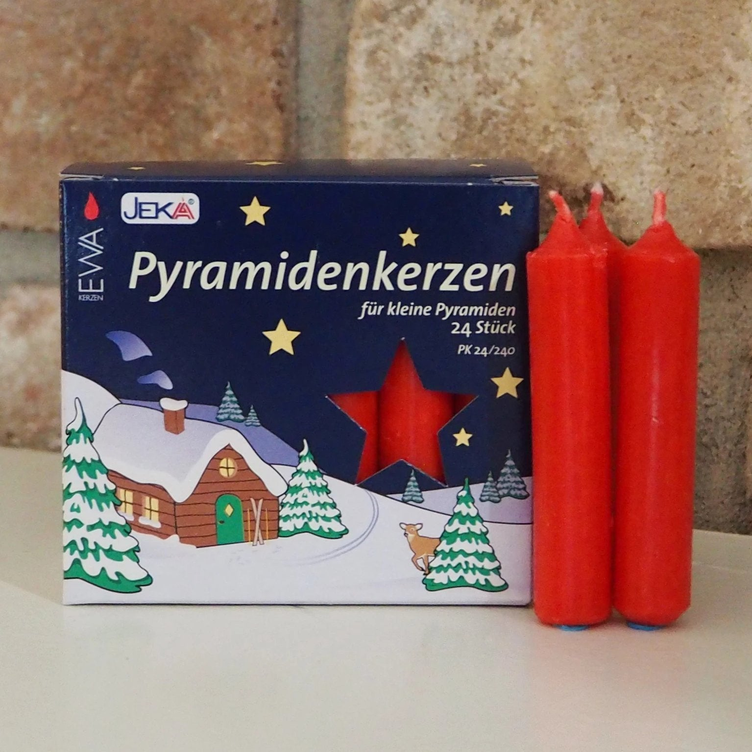 Pyramid Candle (14mm) - Red