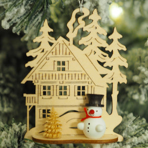 Nicole's Snowmen (Alpine Lodge - Black) - Christmas tree decoration