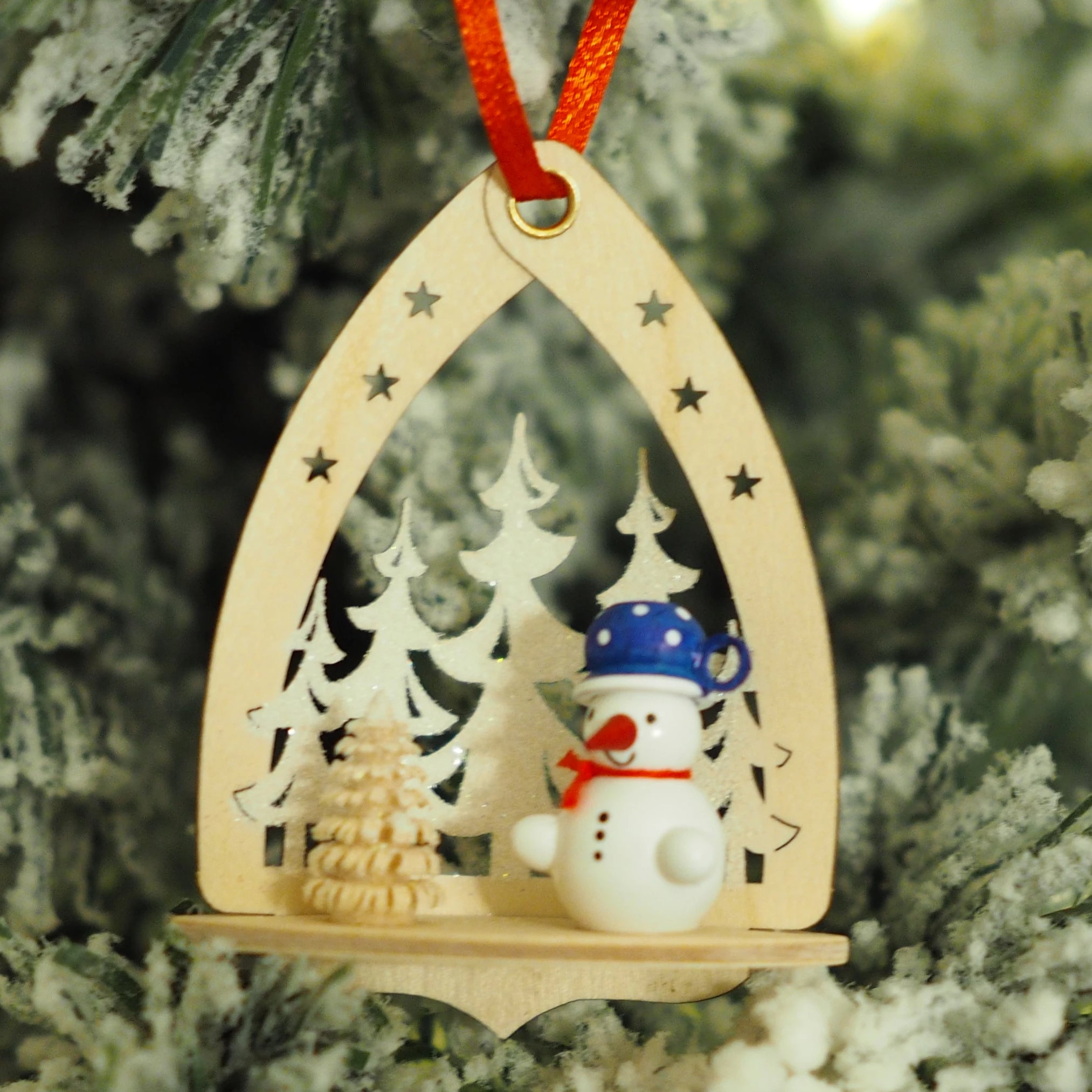 Nicole's Snowmen (Forest - Blue) - Christmas tree decoration