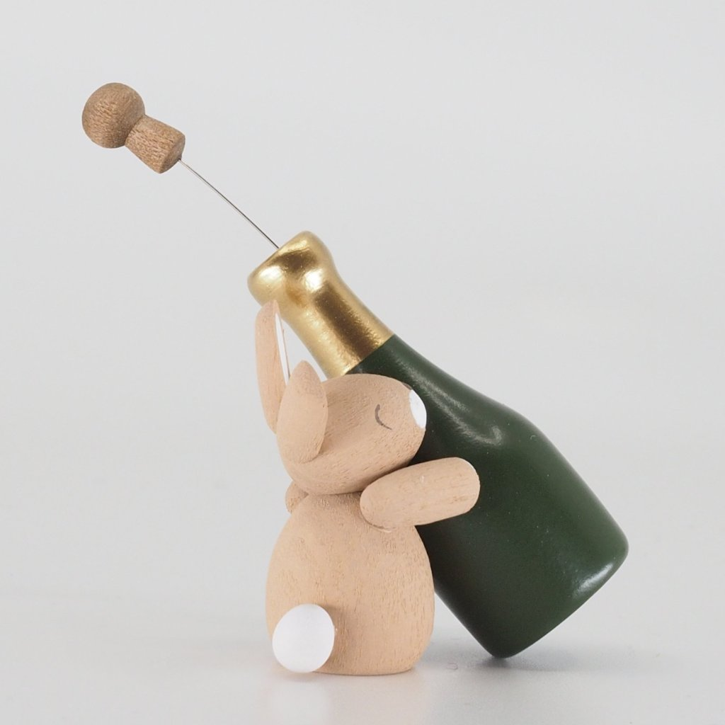 Premium Easter Bunny - Easter Bunny with champagne bottle