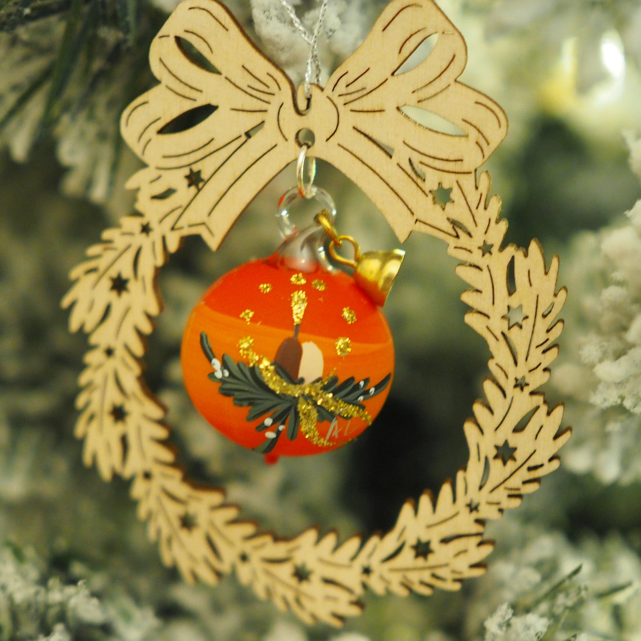 Elke's Wreath (Advent Candle) - Christmas tree decoration