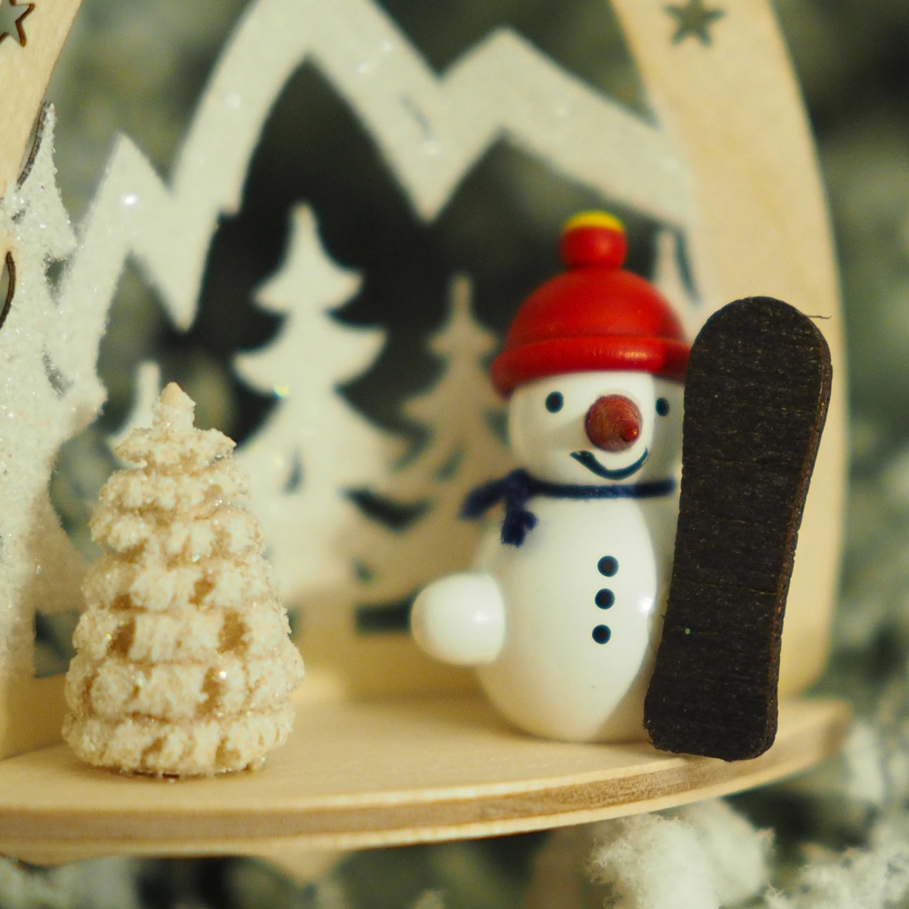 Nicole's Snowmen (Mountain Snowboarder) - Christmas tree decoration