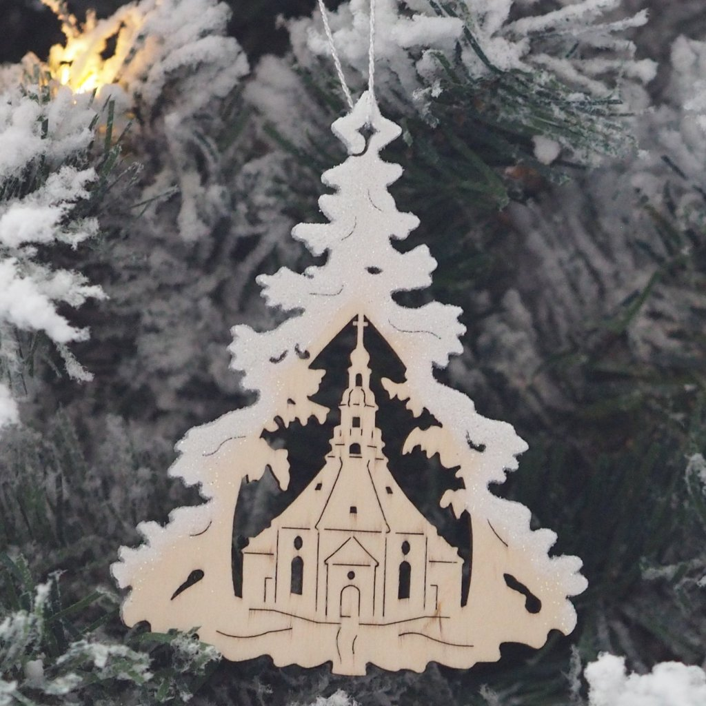 Elke's Silver-Frosted Tree - Traditions (Carol Singers) - Christmas tree decoration