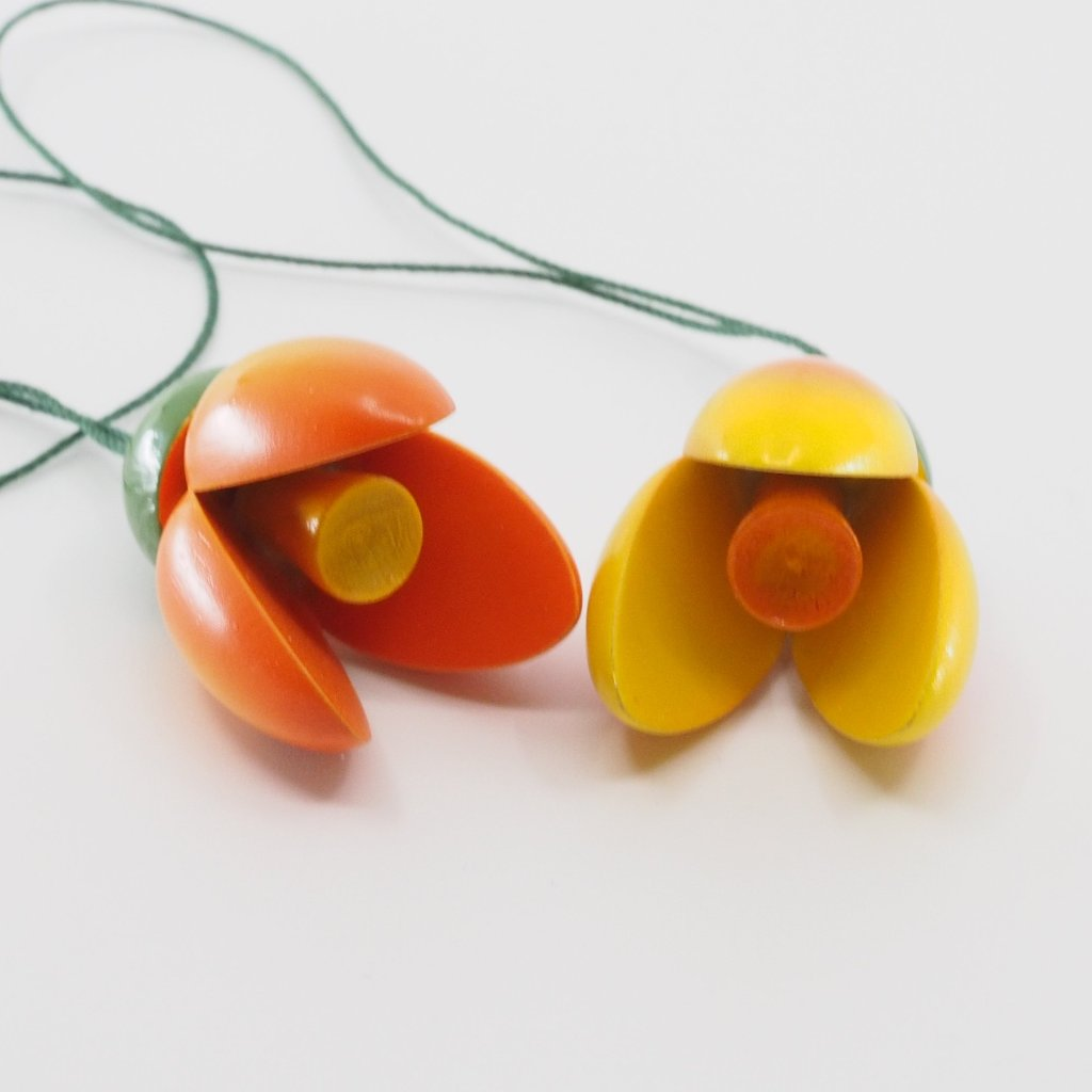 Easter Tree Decoration - Spring Blossom Pair (Orange)