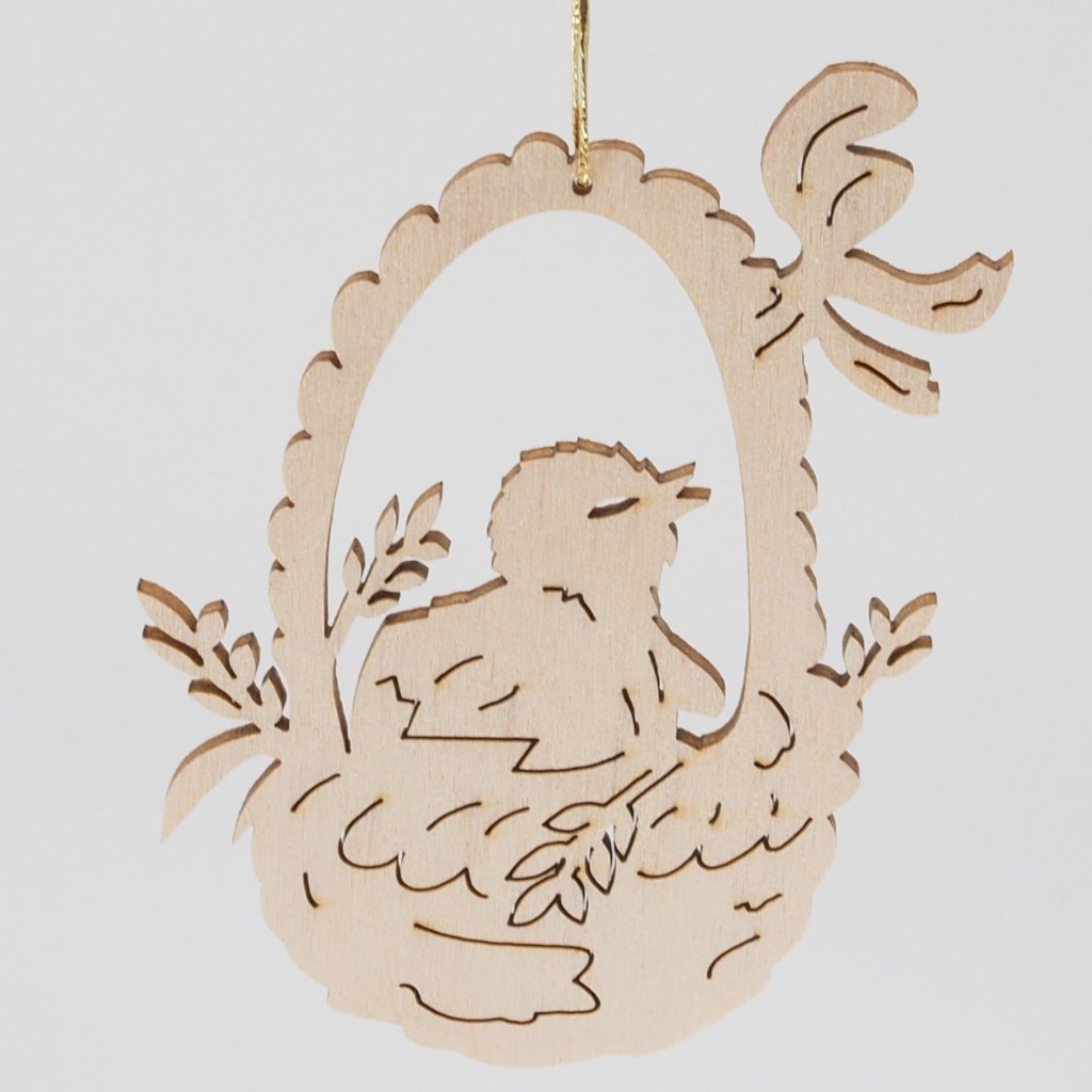 Easter Tree Decoration - Timber Cut-outs (Bunnies and Baskets)