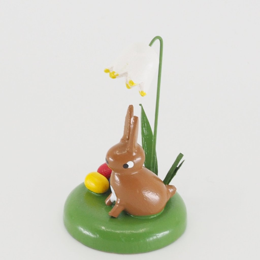 Miniature Wonder - Easter bunny under a snow drop