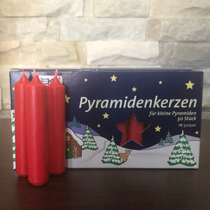 Pyramid Candle - Red 14mm (Box of 50 Regular-size)