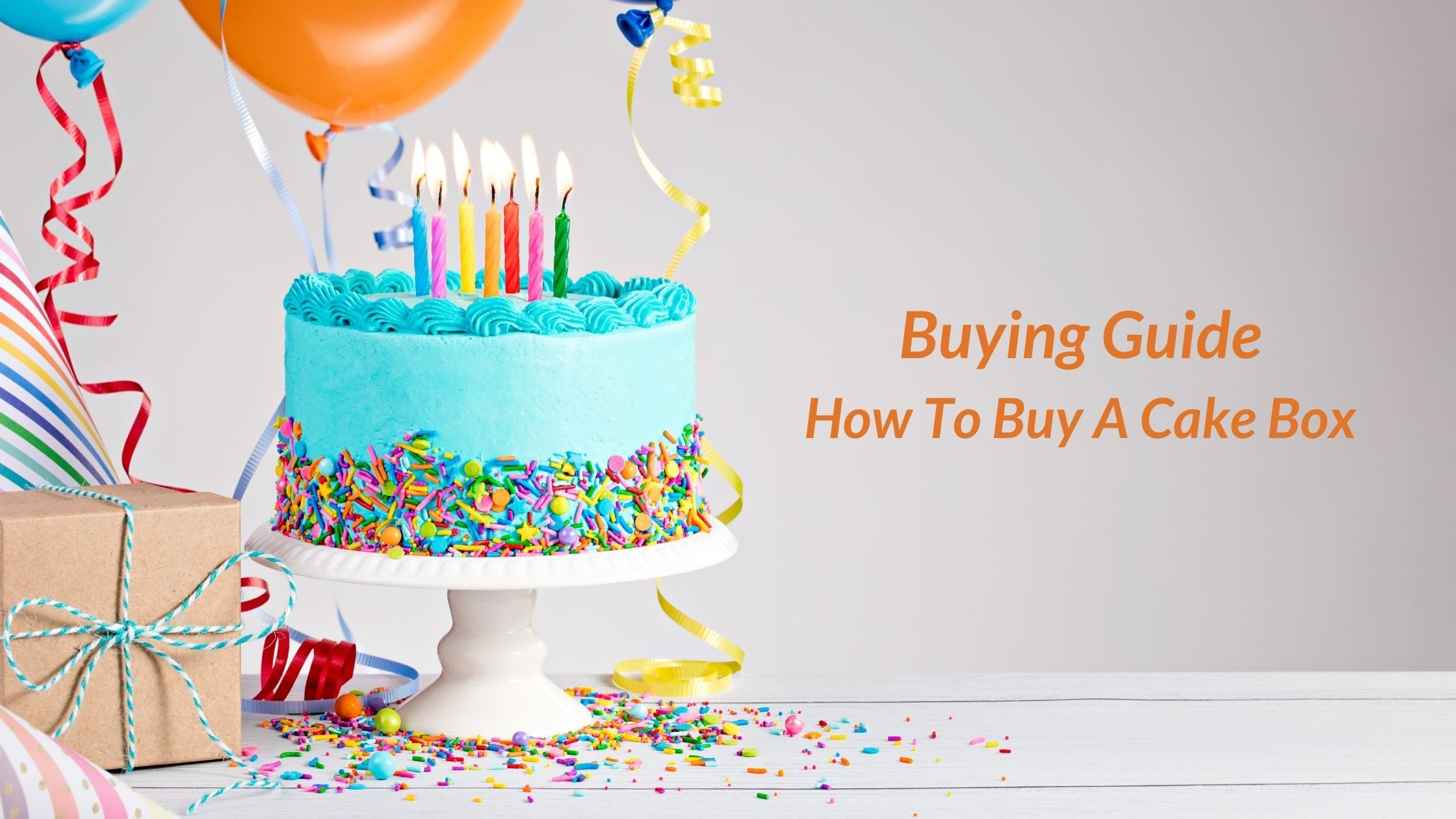 Buying Guide: How To Buy A Cake Box