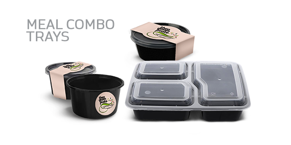 Hygienic food packaging take-away boxes during COVID