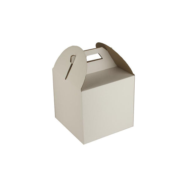 "Solid White Tiered Tall Cake Box For 8"" Base"