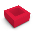 Cake Box for 1kg - Red - 9x9x6 inch