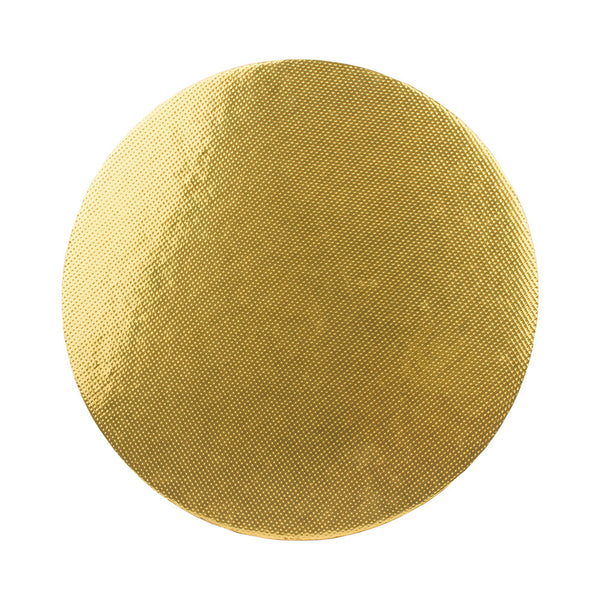 Cake Base - Stiff Board - Gold - Round - Pack of 10