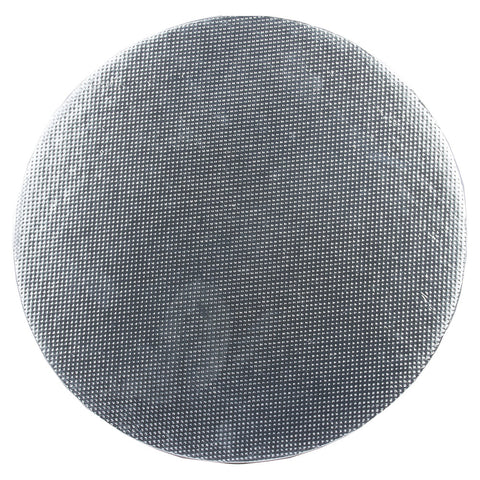 Cake Base - Stiff Board - Silver - Round - Pack of 10