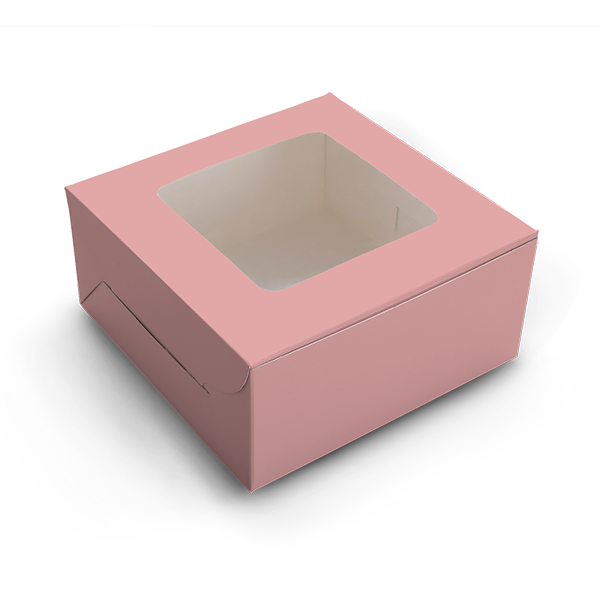 Cake Box for 1kg - Pink - 9x9x6 inch