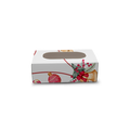 Christmas Print White Cakesicle Box for 1 - 5x9x3 cm