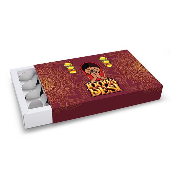 Desi Namaste Sliding Hamper Box - Large - 25x16.5x4cm