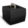 Corrugated Cake Box - Black - 12x12x6.5""