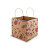 Floral Kraft Cake Bag - Small - 8x8x8""