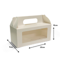 Hamper Box with Handle and Window - White - 20x10x9 cm