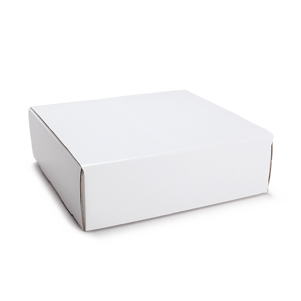 Solid White Corrugated Hamper Box