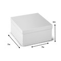 Rigid Hamper Box with Lid - Full White - 7x7x4""