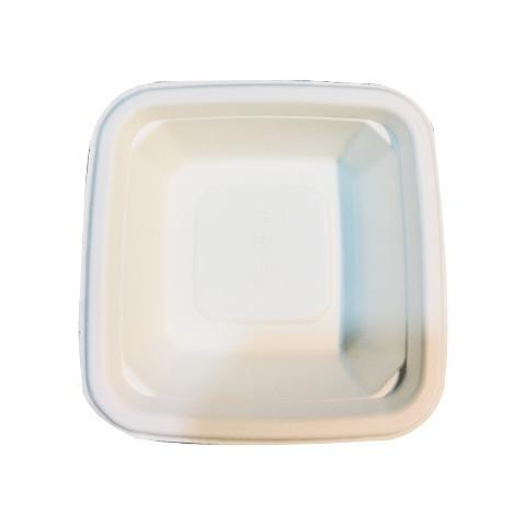 Ice Cream Bowl For One Scoop - 4 inch  - Square - White - Pack of 50