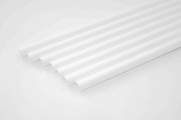 Paper Straws for 7 mm dia - White - Pack of 25