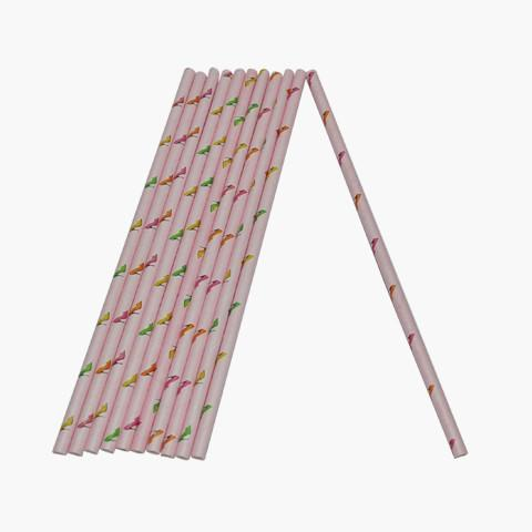 Paper Straws for 5 mm dia - 8 inch length - Pack of 25