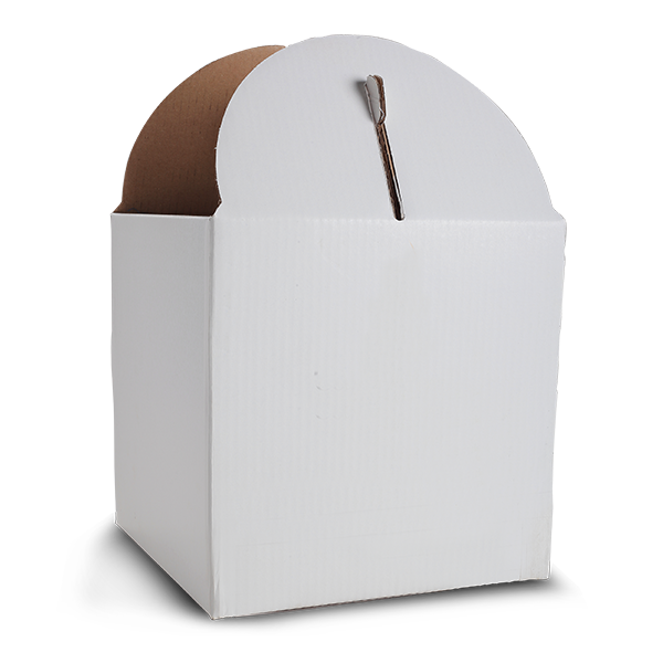 "Solid White Tiered Tall Cake Box for 15"" Base"