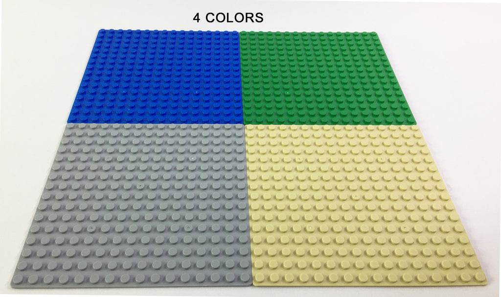 "Brick-Loot-Custom-Baseplate-Bundle-10-Pack-16x16-5""x5""-Compatible-With-LEGO®-and-all-major-brick-brands-4 colors"