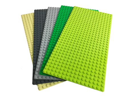 "Baseplate Bundle - 5 pack of 16x32 - 10"" x 5"" Base Plates"