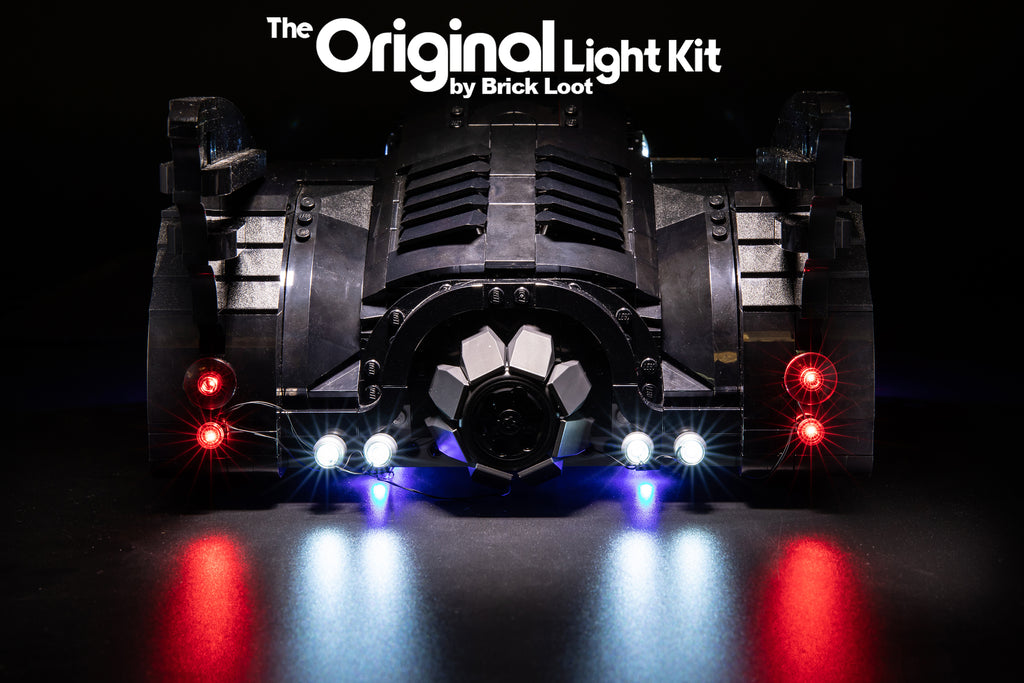 Brick Loot LED light kit, custom-designed for the LEGO 1989 Batmobile set 76139.