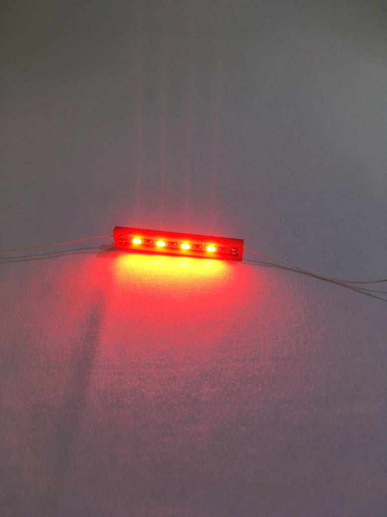 1 x 6 LED Plates - LIGHT LINX - Create Your Own LED String - works with LEGO bricks - by Brick Loot