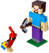LEGO Minecraft BigFig Series 1: Minecraft Steve BigFig with Parrot set 21148