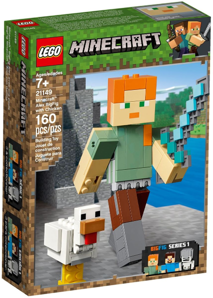 LEGO Minecraft BigFig Series 1: Minecraft Alex BigFig with Chicken set 21149