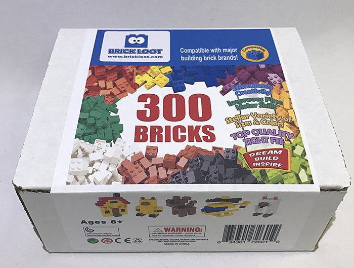 300 Pack of Bulk LEGO COMPATIBLE Bricks