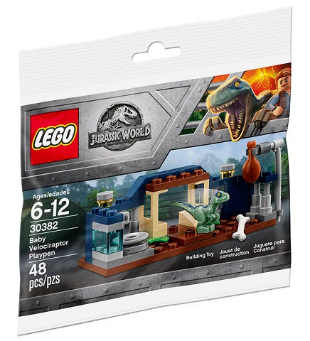 LEGO Polybag - Jurassic World Baby Velociraptor Playpen set 30382