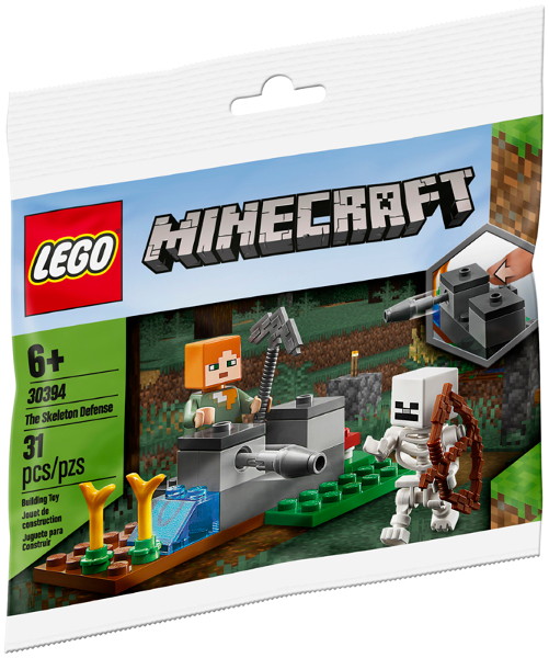 LEGO Polybag - Minecraft The Skeleton Defense polybag 30394
