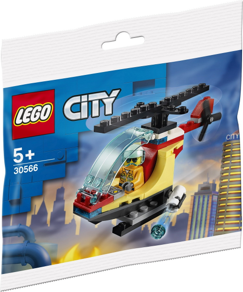 LEGO Polybag - Town: City: Fire: Fire Helicopter polybag 30566
