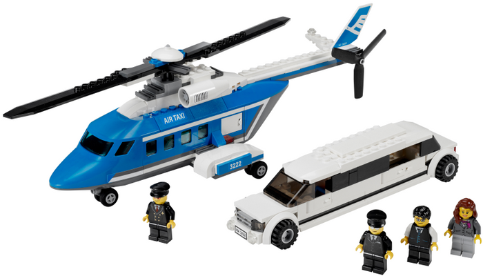 LEGO City Airport: Helicopter and Limousine 3222 - CEO Parker's LEGO Collection - Used LEGO Complete