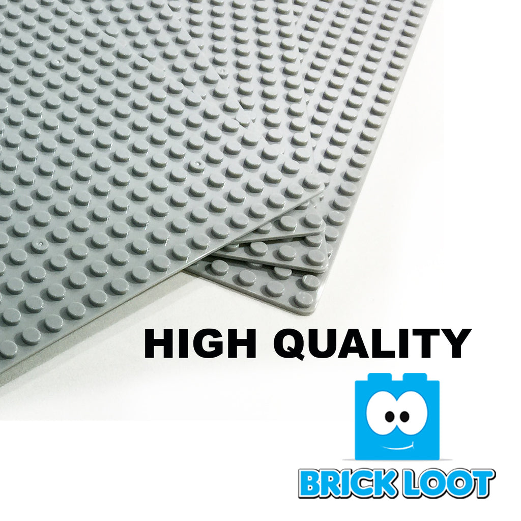 "Baseplate Bundle - 4 pack of GRAY 32x32 - 10"" x 10"" Base Plates"