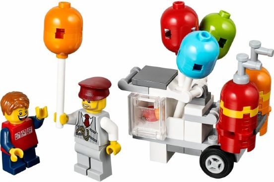 LEGO Creator Balloon Cart polybag 40108 - CEO Parker's LEGO Collection - Used LEGO Complete