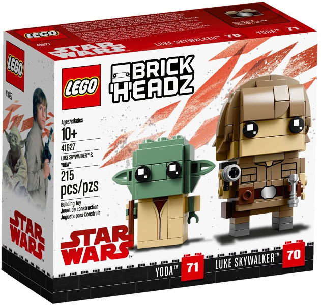 LEGO Star Wars Luke Skywalker & Yoda BrickHeadz 41627 - CEO Parker's LEGO Collection - Brand NEW Sealed