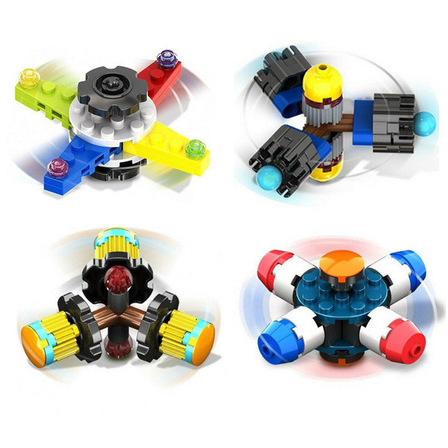BRICK FIDGET SPINNERS - Collection of 4 Buildable Fidget Spinners- Buy 1 or all
