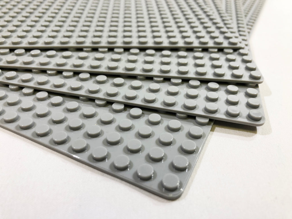 "Baseplate Bundle 4 pack of Brick Loot Custom 48x48 studs 15""x15"" Baseplates GRAY OR GREEN compatible with LEGO® and all major brick brands"