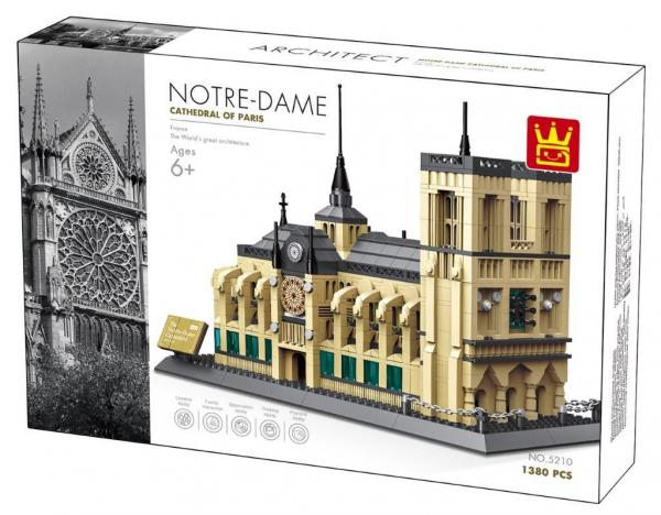 WANGE 5210 Notre-Dame Cathedral of Paris beautiful intricate building set. Sold by Brick Loot with or without the retail box.