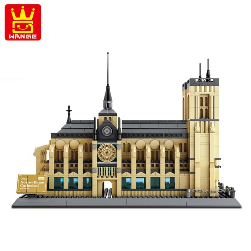 WANGE 5210 Notre-Dame of Paris beautiful intricate building set. Sold by Brick Loot with or without the retail box.