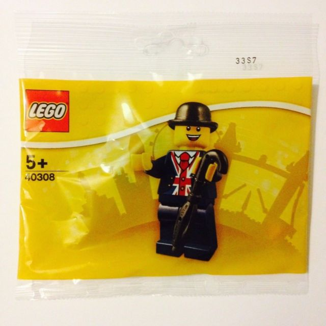 LEGO 40308 - LEGO Store Leicester Square Lester Minifigure - New Poly bag